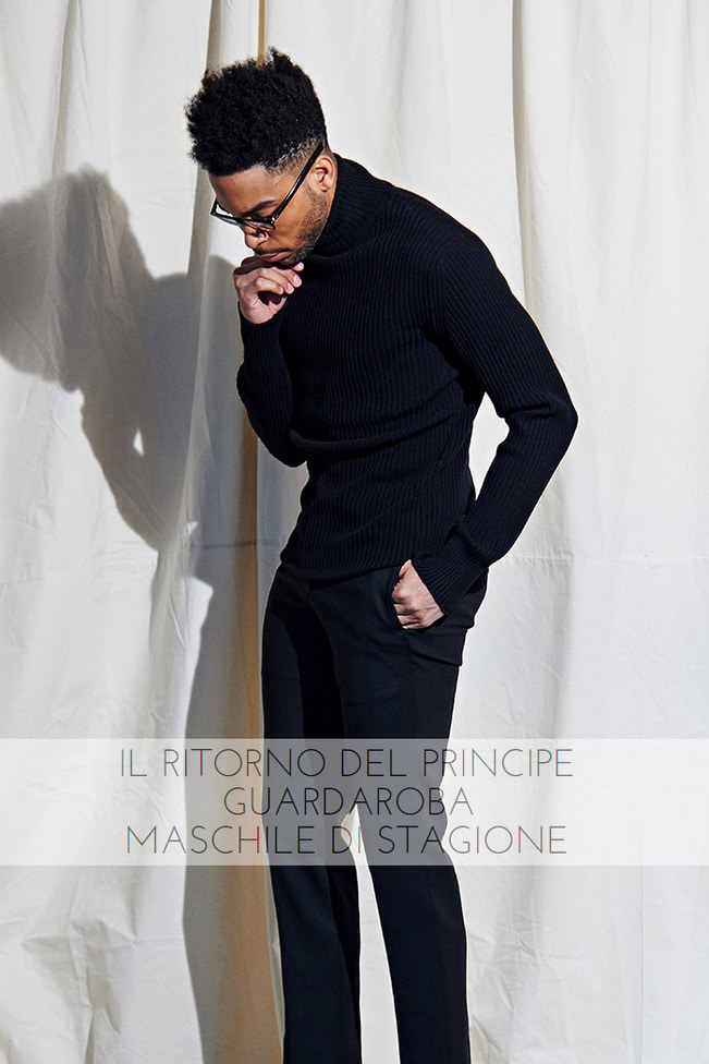 Cashmere golgi polo neck sweater /2color[Special order project Italy yarn]
