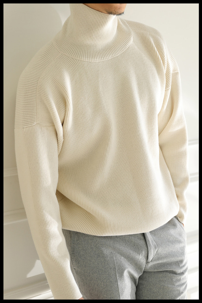 Heavy oversize turtle neck knit/3color[Special order project]
