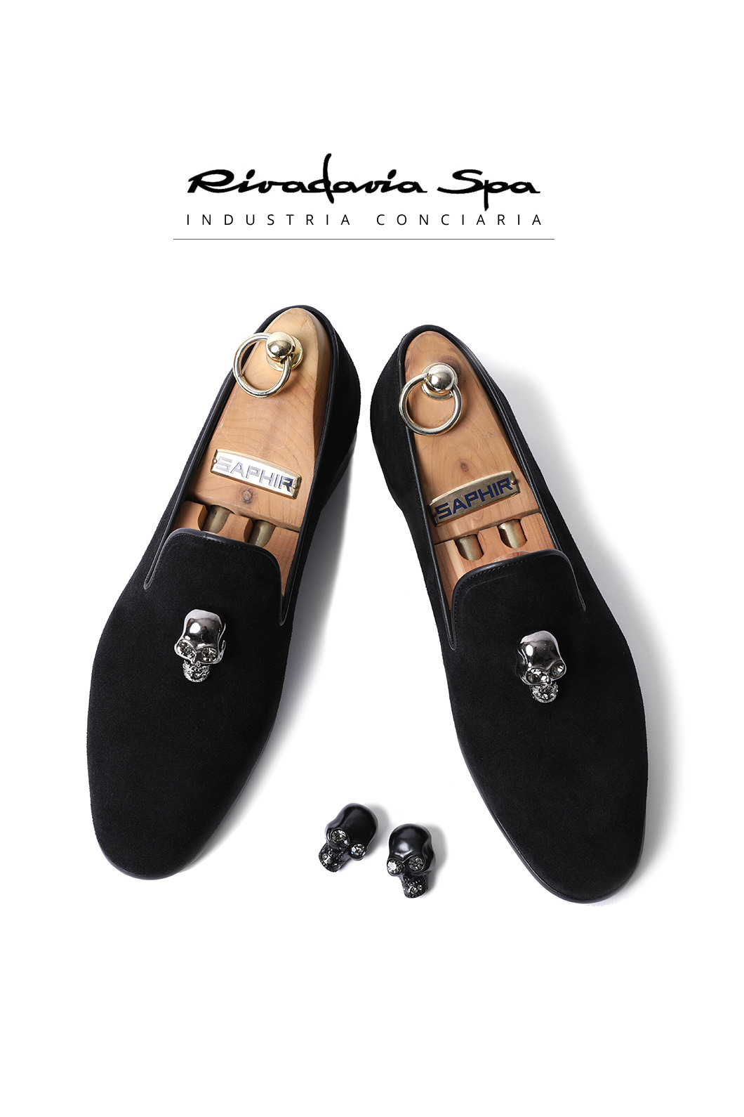 TAKE504  ITALY RIVADAVIA LOAFER-BLACK-SKULL LIMITED