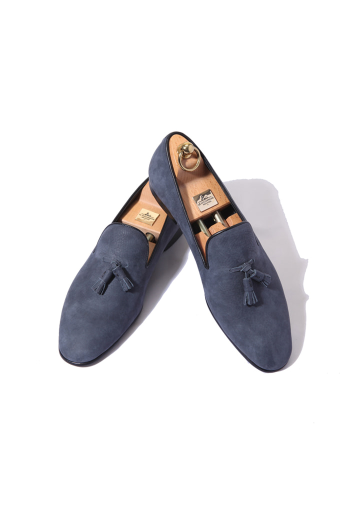Take364 artisan slipper new buckskin  shoes/light navy