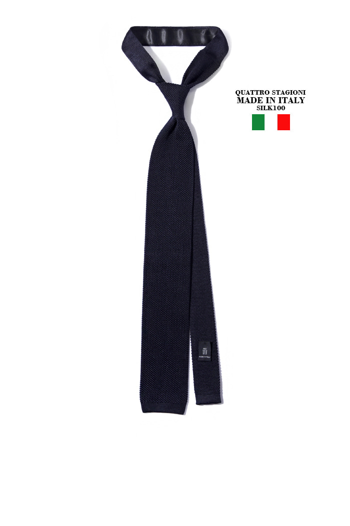 Take380 Quattro stagioni silk knit tie/navy[MADEIN ITALY-SILK 100%]