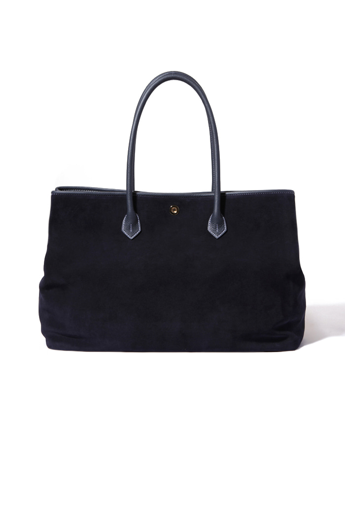 Navy Suede Tote bag[premium-special order-limited]