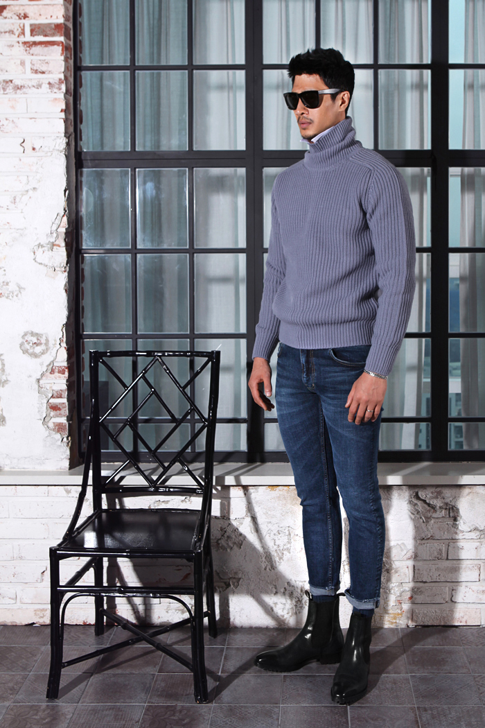 Maastricht basic 2type knit/3color[turtleneck&roundneck 2type]