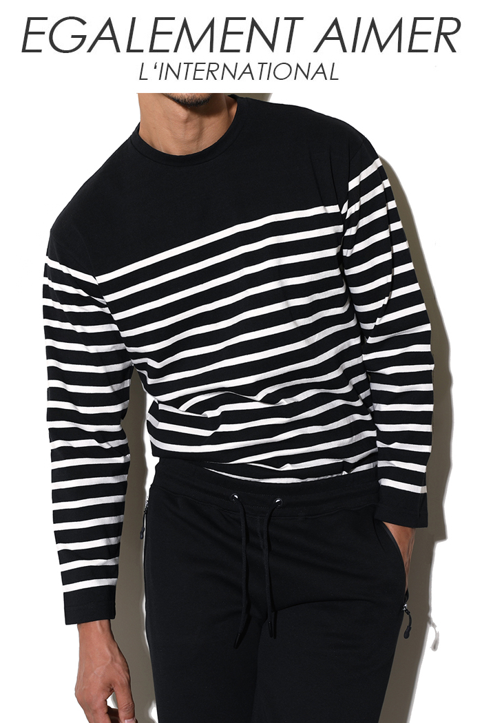 James stripe t-shirt-3color