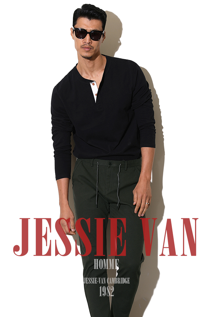 JESSIE-VAN button v-neck t-shirt-2color-수입한정모델-적극추천!