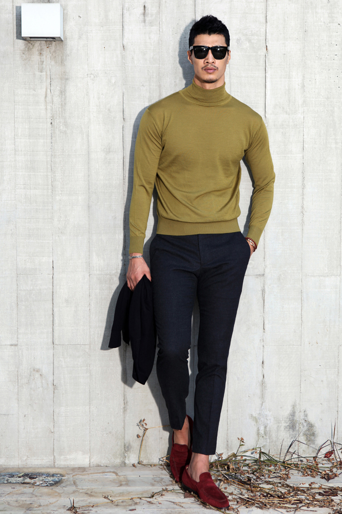 Plonasia basic turtleneck/3color[micron 18.0 48's wool 100%]