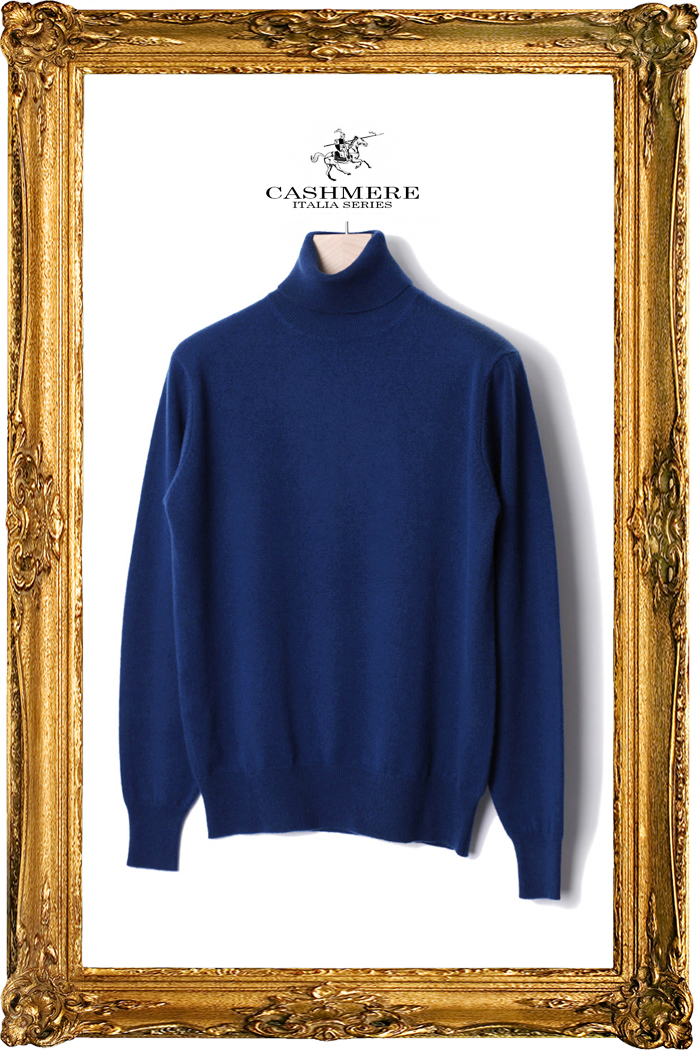 TAKE453 ROYAL CASHMERE TURTLENECK-CORSA BLUE[ITALIA SERIES]이탈리아 캐시미어 터틀넥-품절임박!