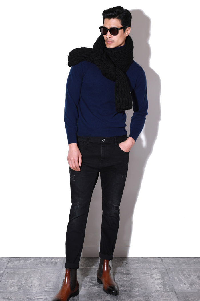 Mariele black washed jeans/black-수입 추천 제품