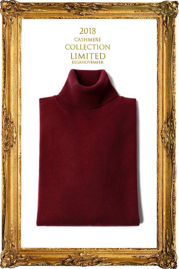 TAKE457 ROYAL CASHMERE TURTLENECK-FORTE WINE[ITALIA SERIES]캐시미어 터틀넥-BEST SELLER-2/3이상판매완료!