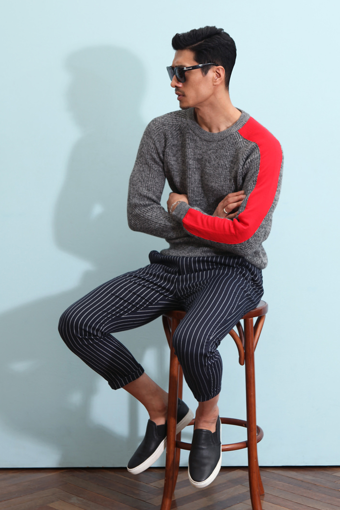 Riffrock stripe slacks pants/2color-수입 극소량 한정 모델