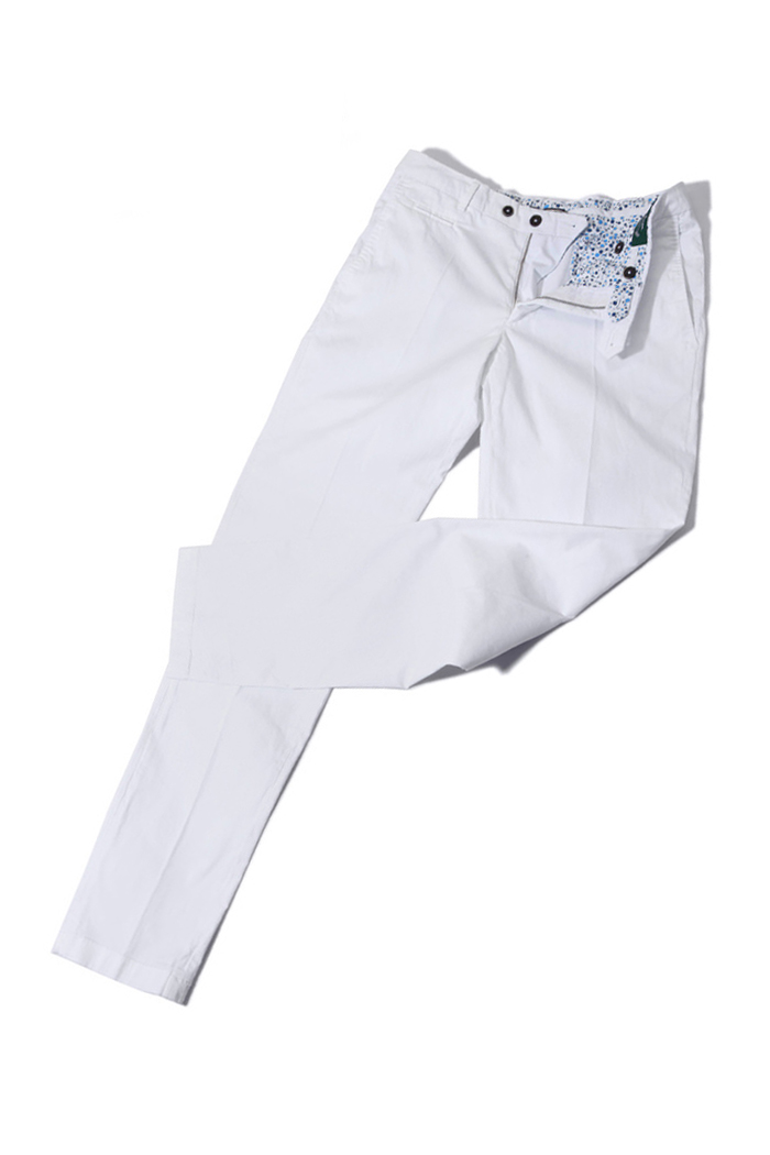 Take340 Larusmiani milano-italy garment dye pants/white
