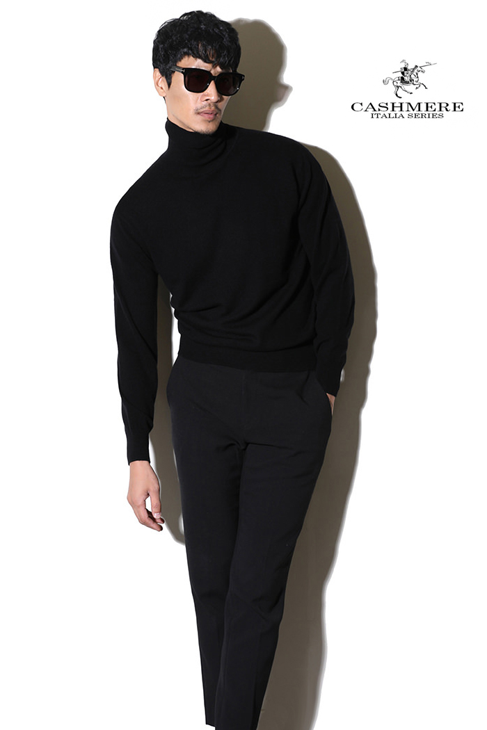 TAKE455 ROYAL CASHMERE TURTLENECK-BLACK[ITALIA SERIES]캐시미어 터틀넥-BEST SELLER!-품절임박!