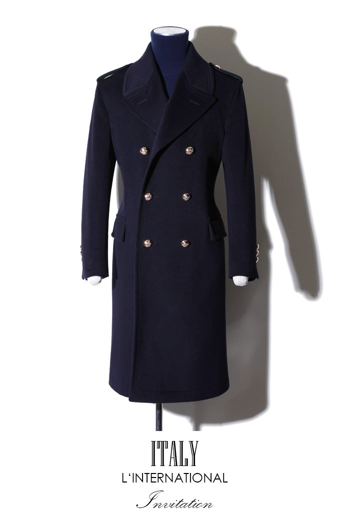 Take399 Commander Italy cashmere coat/navy[Italy series limited edition]장혁협찬