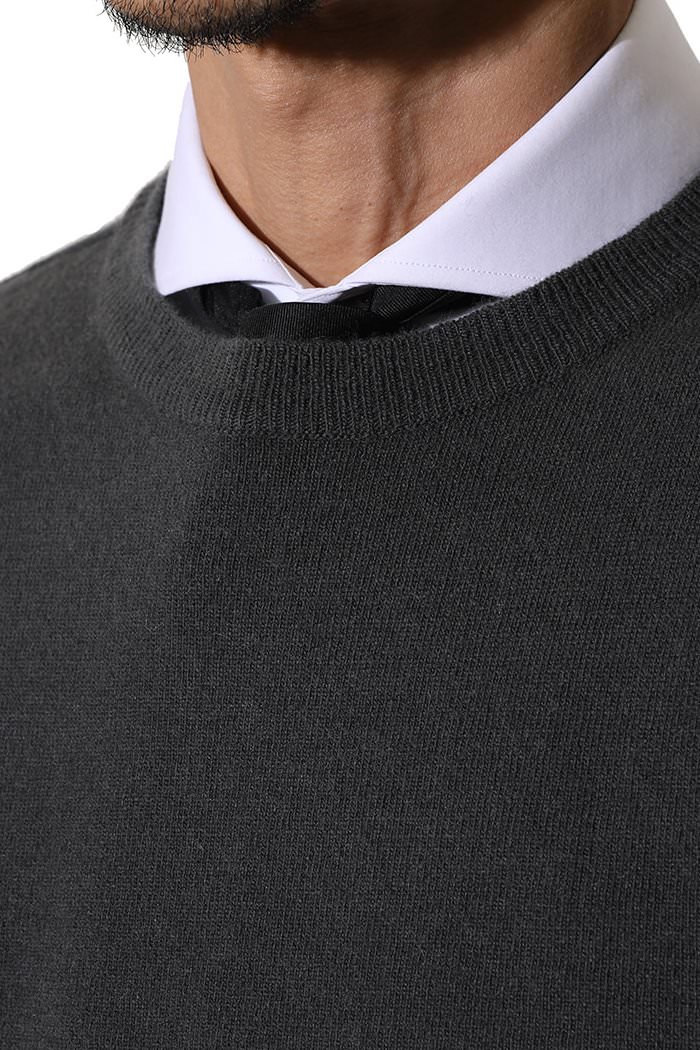 MERINO BASIC ROUND KNIT-5COLOR[MERINO WOOL+CASHMERE]