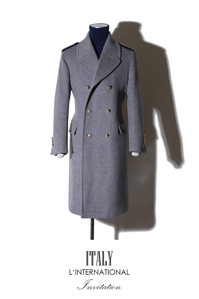 Take398 Commander Italy cashmere coat/gray[Italy series limited edition]