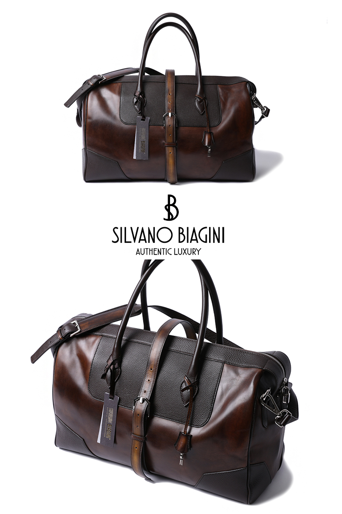 SILVANO BIAGINI BOSTON BAG-BROWNSPECIAL ORDER-MADE IN ITALY