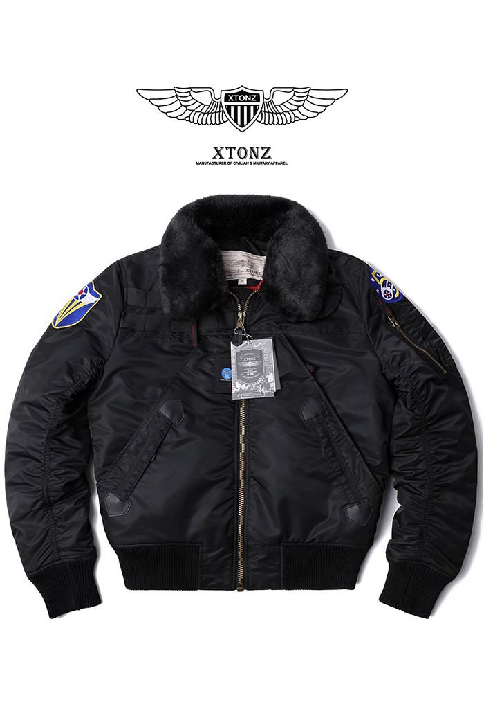 XTONZ XJ5 FLIGHT JACKET-BLACK