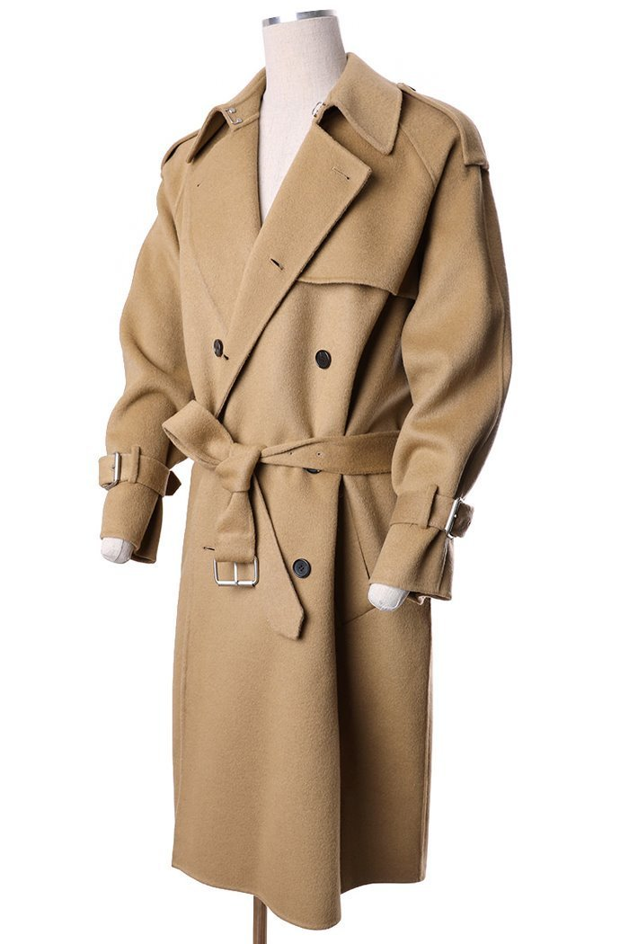 TRINI TRENCH HAND MADE DOUBLE COAT-3COLOR