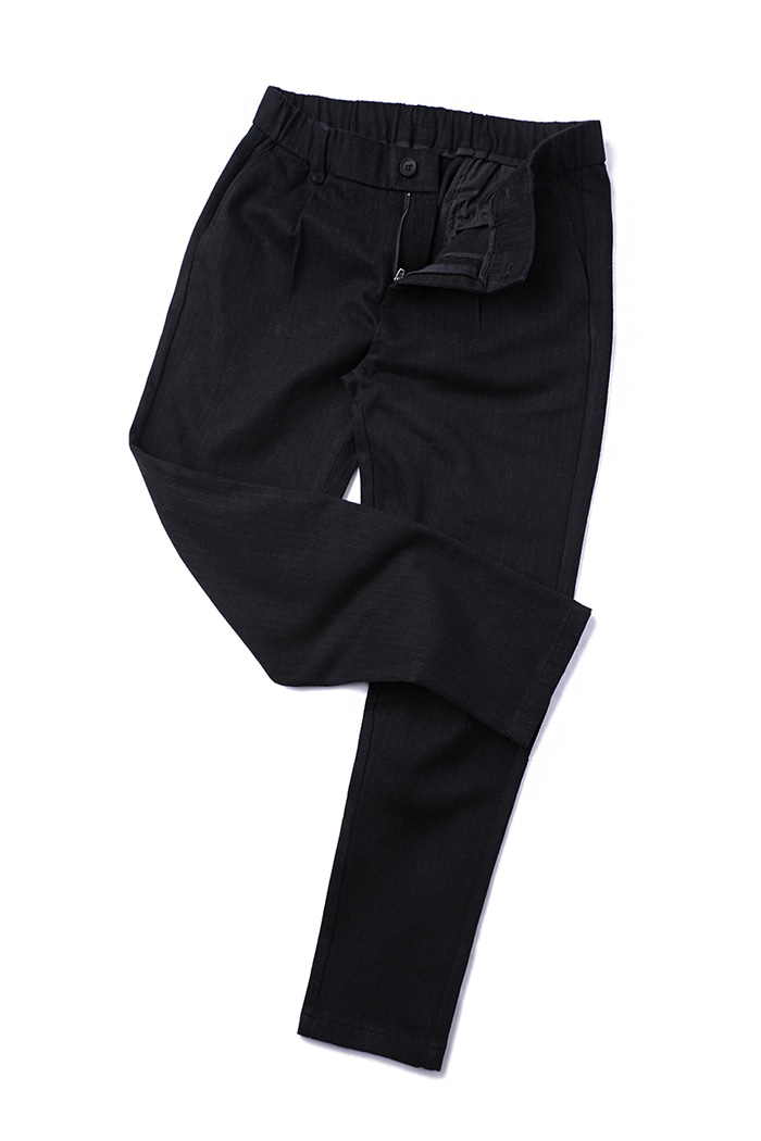 A.P.O. NAPPING STRIPE SLACKS PANTS-BLACK소량한정수량!