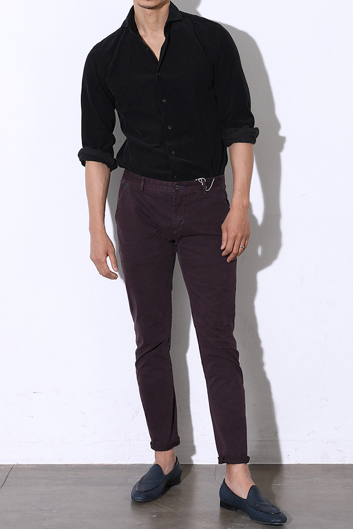 SABIN SLIM CHINO PANTS-DARKWINE수입한정제품!