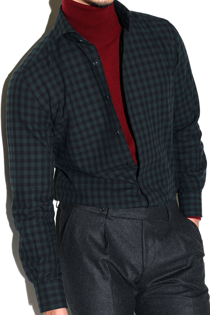 TAKE464 ITALIA A&C CHECK SHIRT-DARK GREENBEST SELLER!-마지막수량 30% SALE!!