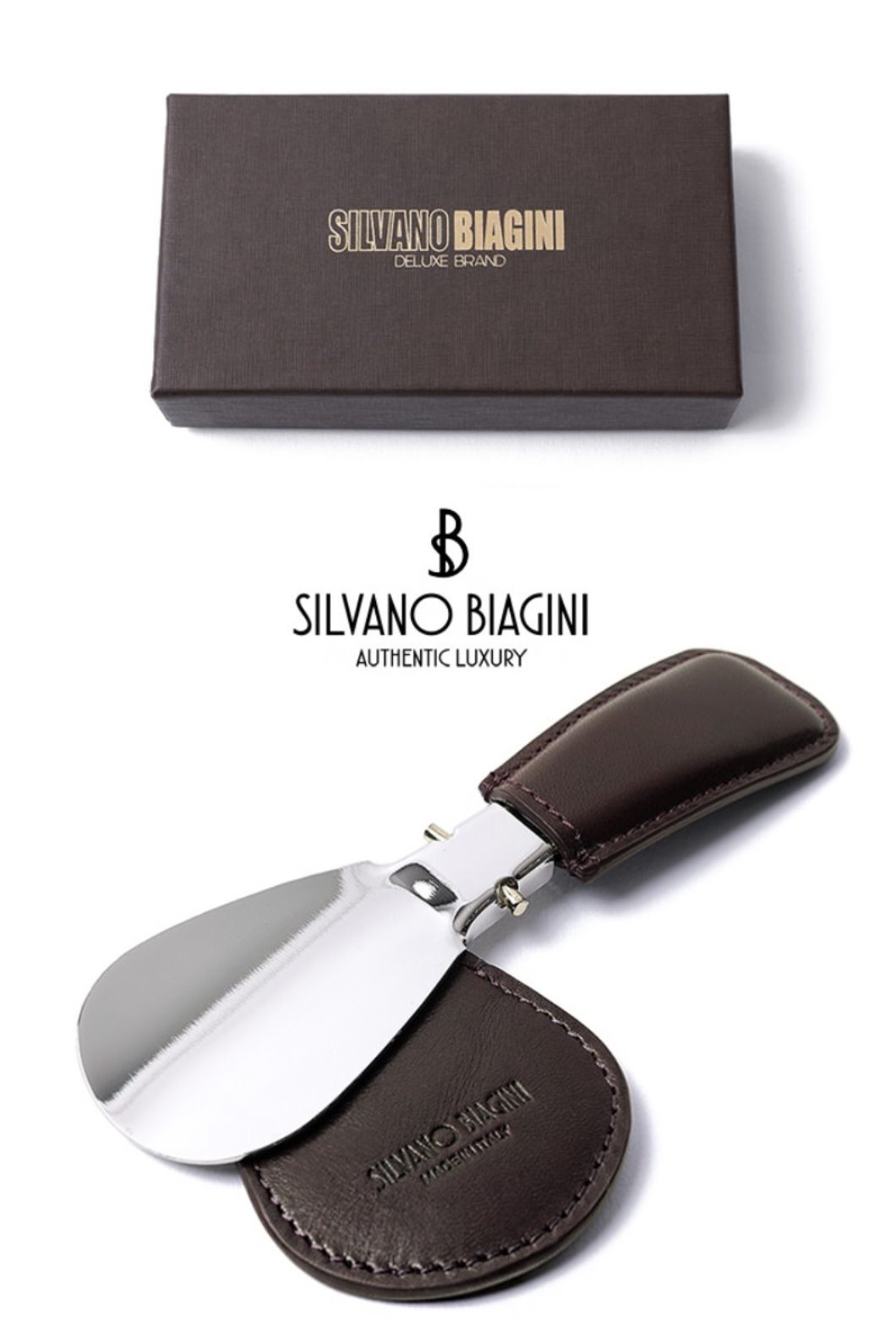 SILVANO BIAGINI SHOE HORN-BROWNSPECIAL ORDER-MADE IN ITALY