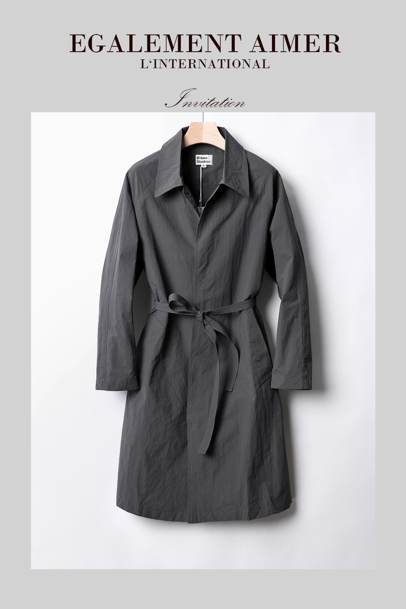 BIANO SIMPLE TRENCH COAT-2COLOR수입한정제품