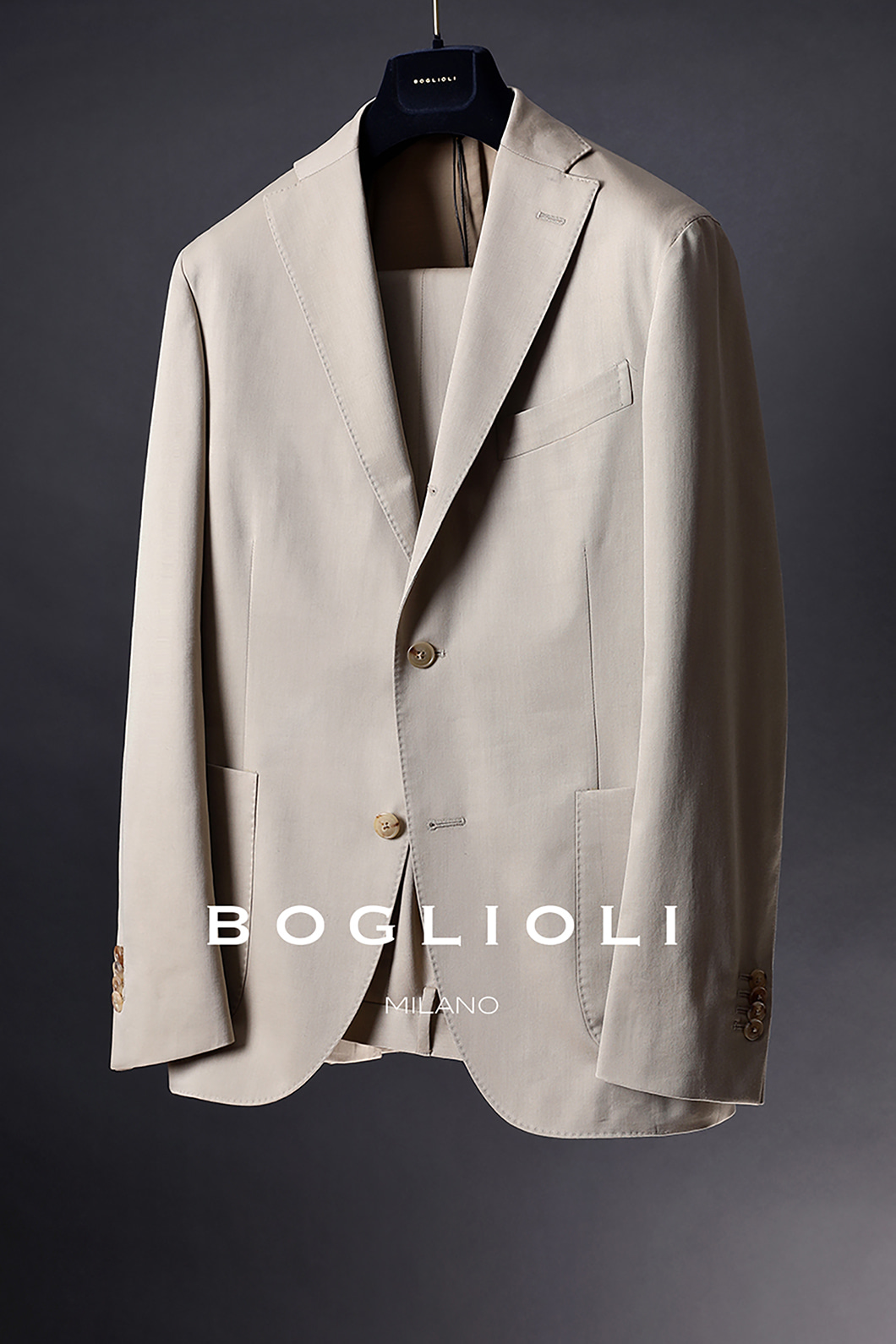 BOGLIOLI SINGLE FORMAL SUIT-BEIGE