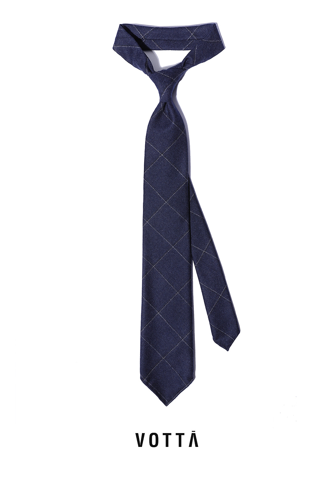 CANONICO WINDOW SPODERATO TIE-NAVY BLUEHAND MADE TIE[wool 100%]