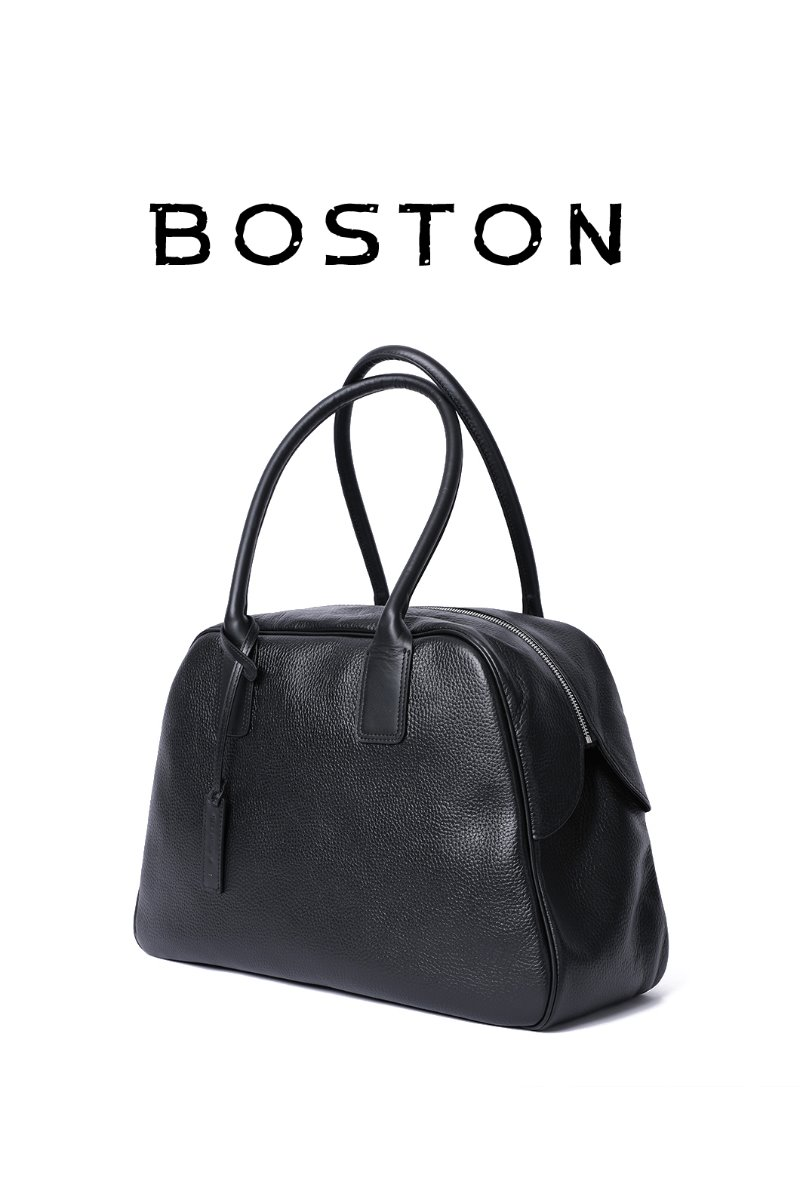 LARGE BOSTON BAG-BLACK[PREMIUM-SPECIAL ORDER]