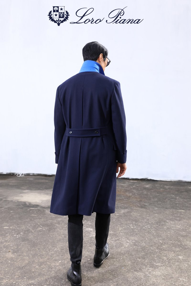 517 LOROPIANA POLO COAT-NAVY