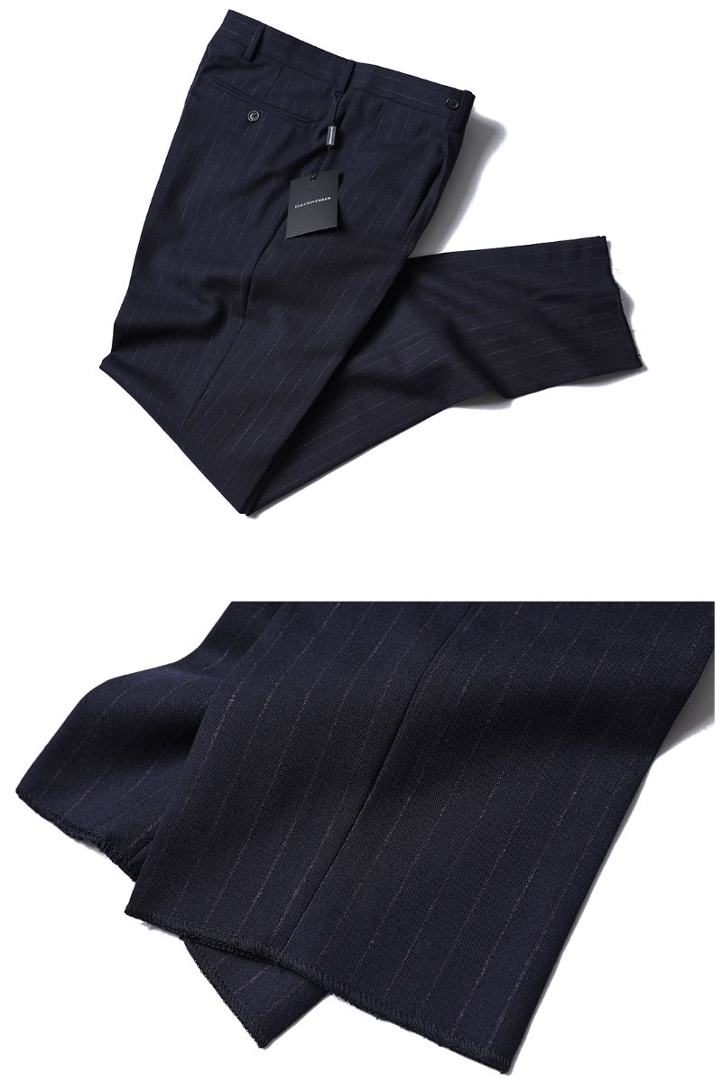 507 ITALY REDA 1865 STRIPE SLACKS PANTS-NAVY