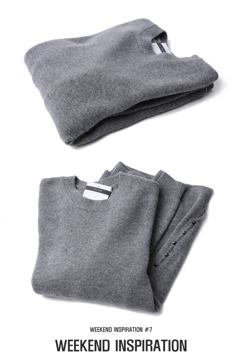 IDENTICAL STUD ROUND KNIT-2COLOR