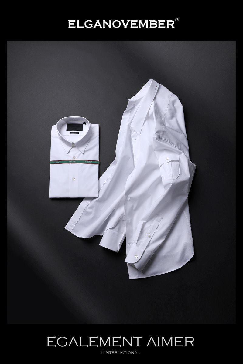 483 ITALIA A&C SIDE POCKET SHIRT-WHITE
