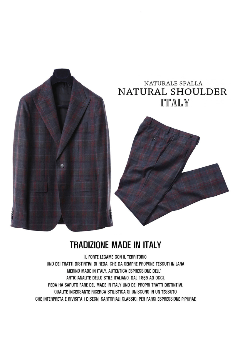 511 DRAGO ITALY CHECK SUIT-NATURALE SPALLA품절임박-자켓,팬츠 분리 구매가능