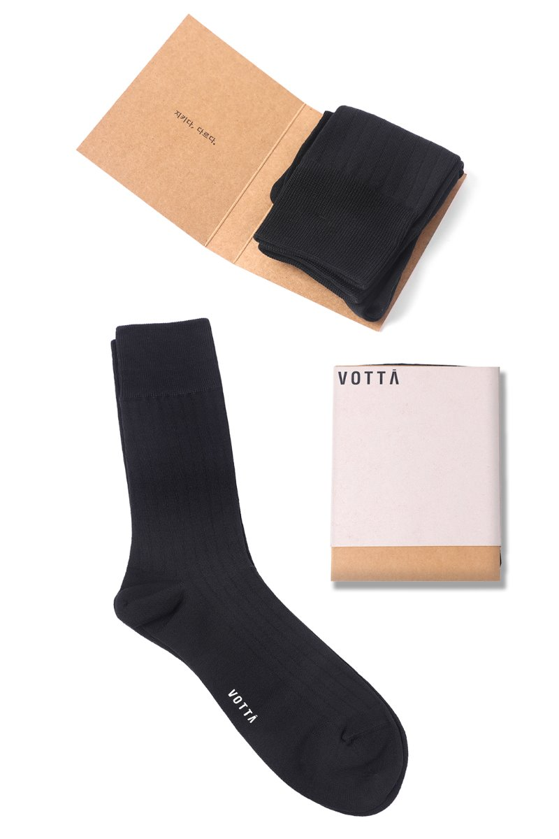 SILKET SOLID NEW RIB SOCKS-BLACK추천 양말