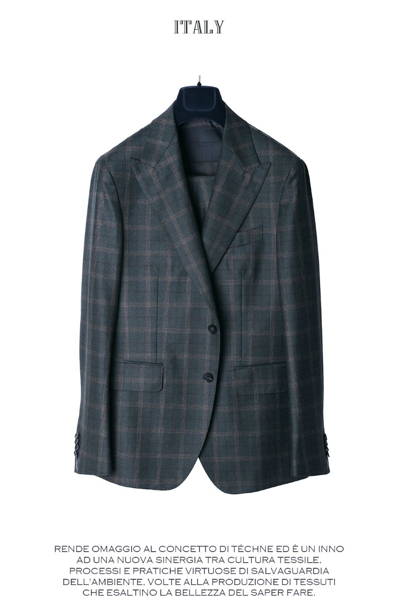 509 DRAGO ITALY CHECK SUIT-NATURALE SPALLA품절임박-자켓,팬츠 분리 구매가능