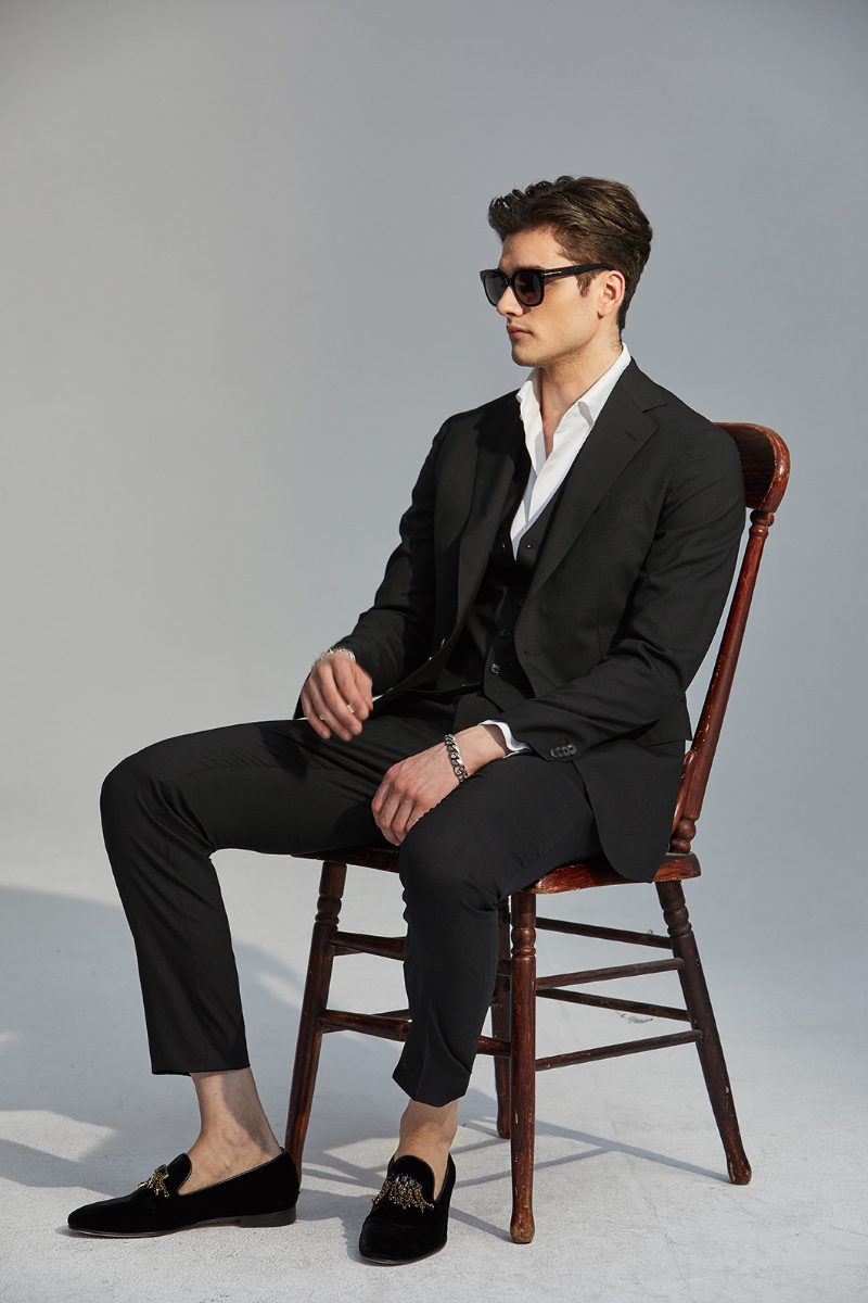 546 BLACK3 NOTCHED SUIT-BLACK-품절임박