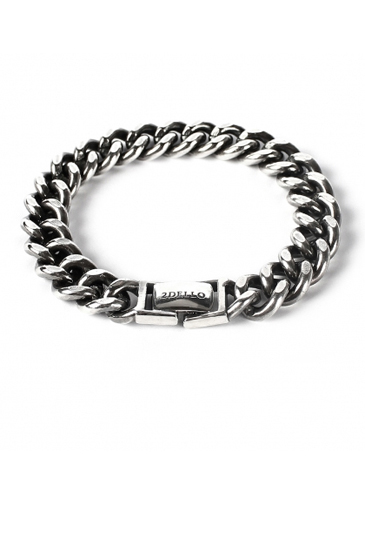 Flat chain 11mm bracelet[premium-hand made]